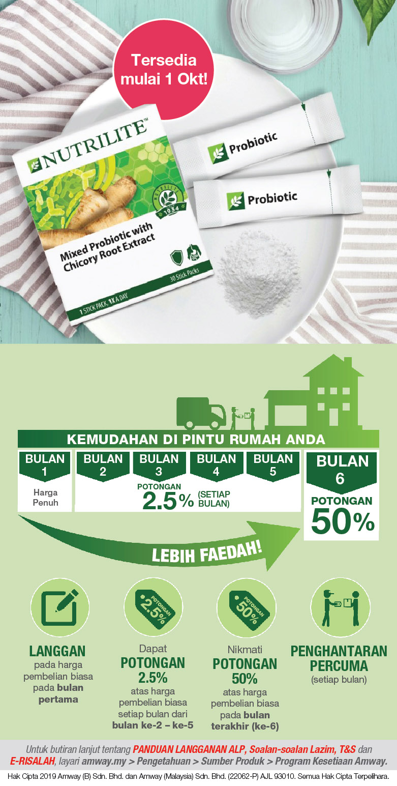 Program Kesetiaan Nutrilite(NLP)- Nutrilite Mixed Probiotic with Chicory Root Extract