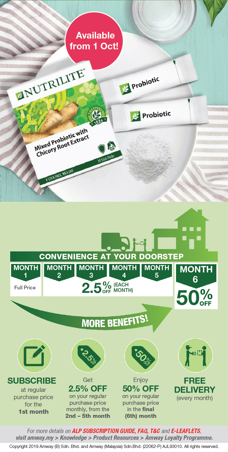 Nutrilite Loyalty Programme (NLP) - Nutrilite Mixed Probiotic with Chicory Root Extract